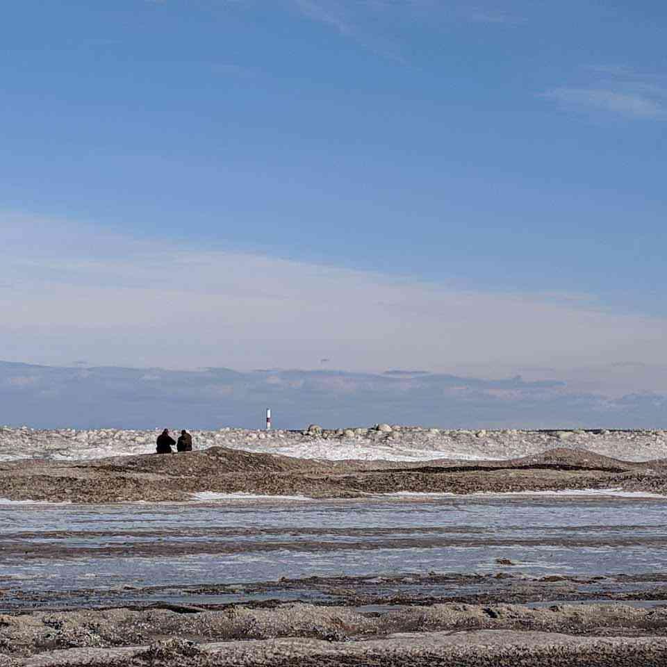 Couple Winter Beach