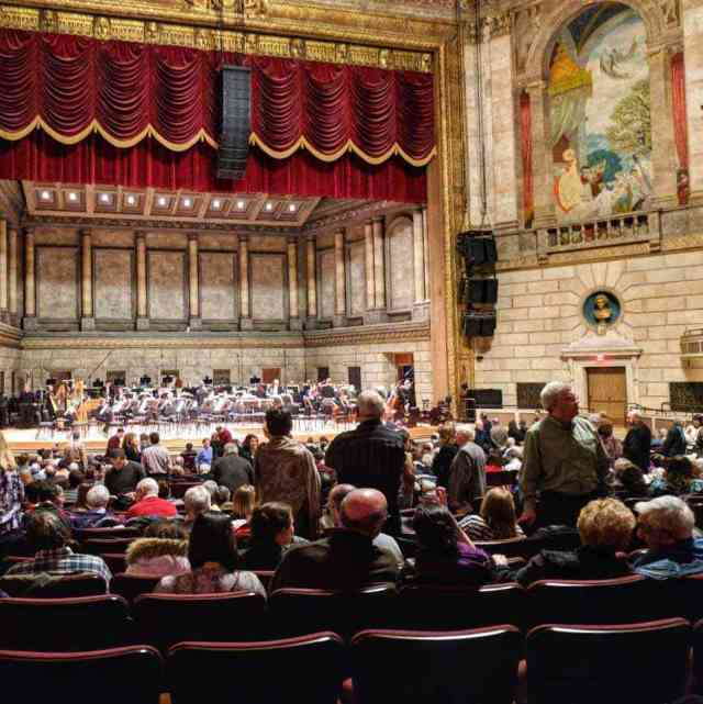 Eastman Theatre Kodak Hall stage view