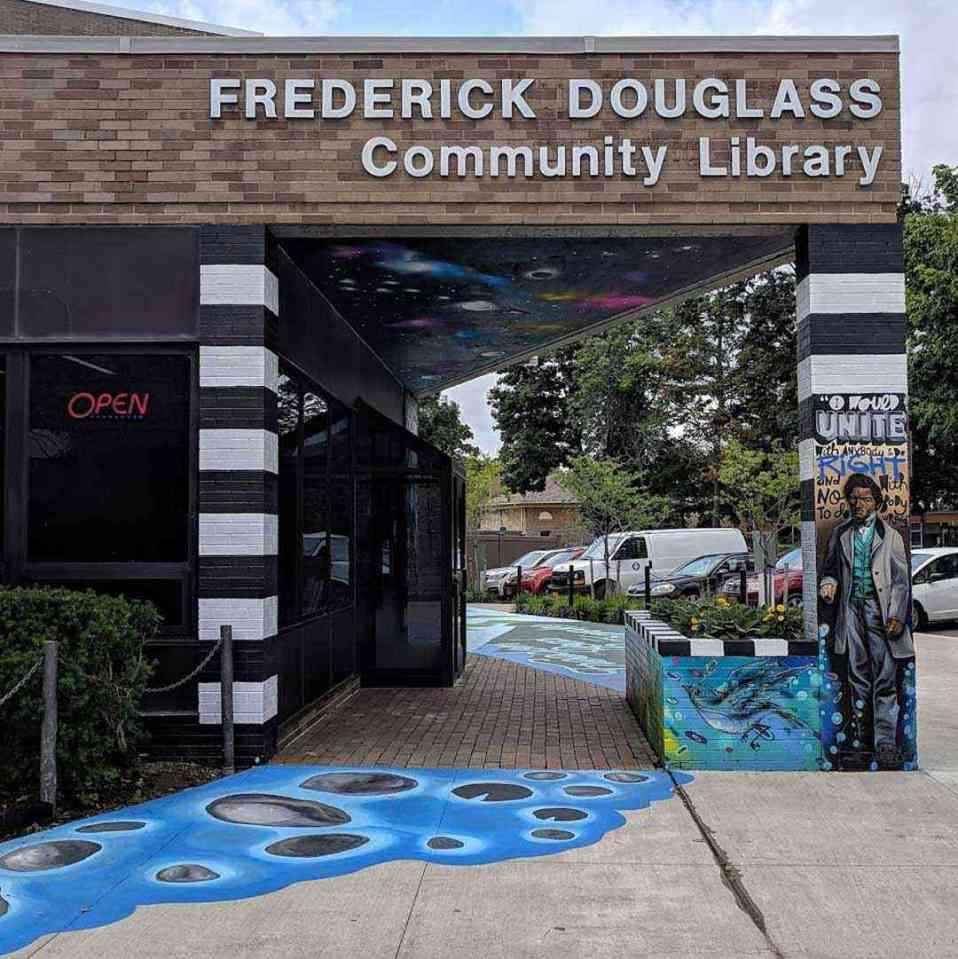 Frederick Douglass Community Library wall art