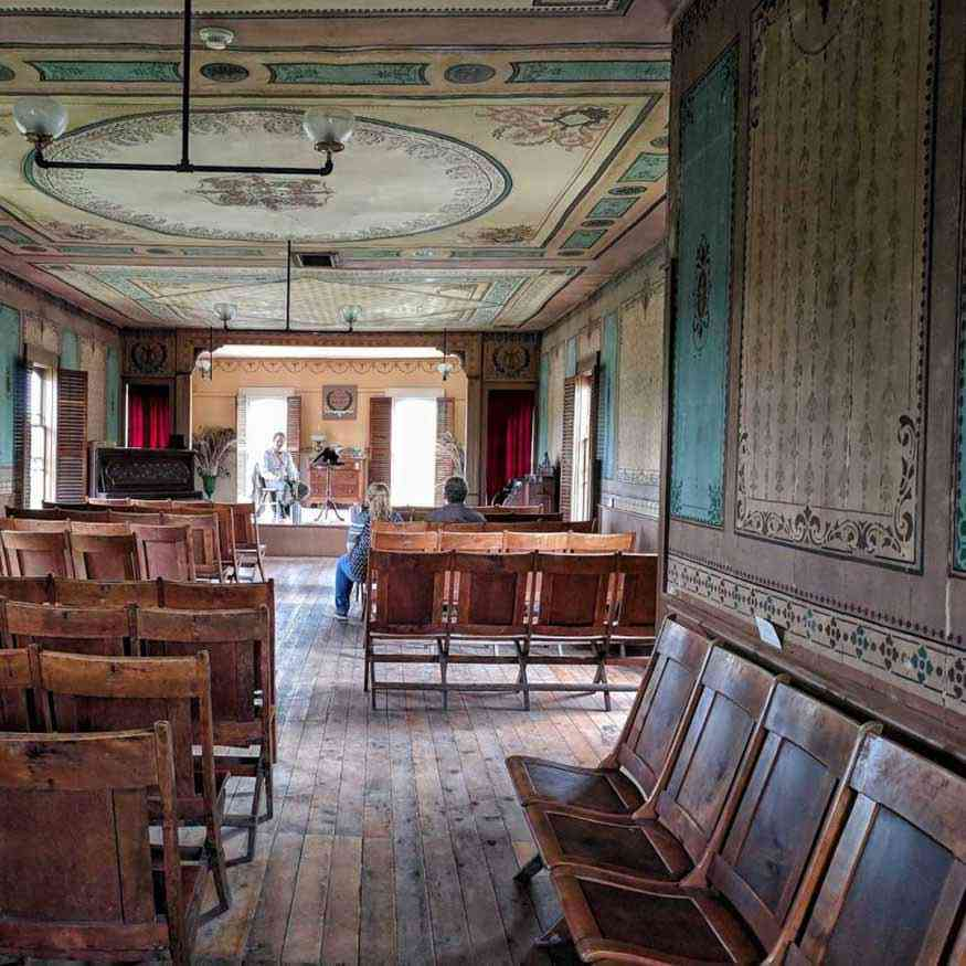 Genesee Country Village gathering hall