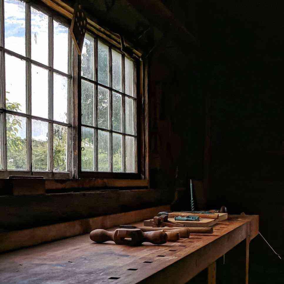 Genesee Country Village workshop window