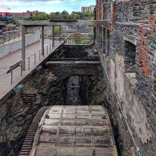High Falls Rochester NY Genesee River mill exposed