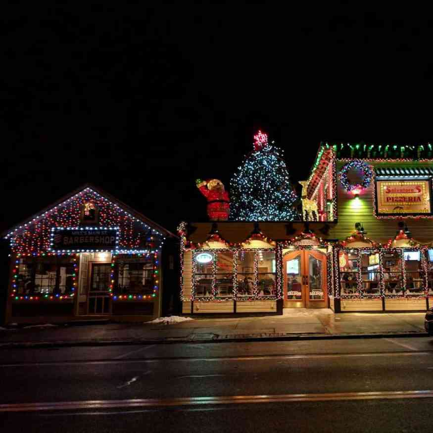 Holiday Lights Salvatores Saloon Scottsville