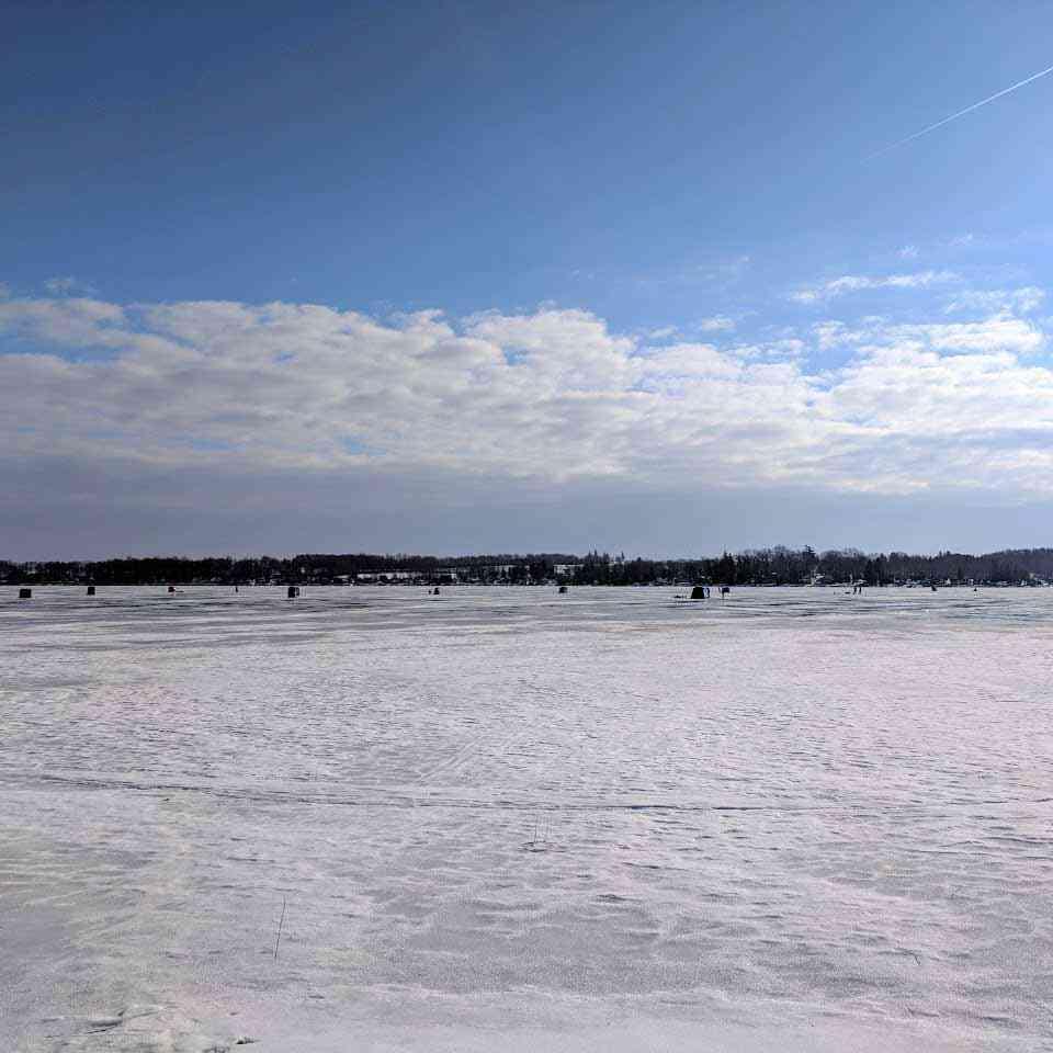 Ice Fishing on Silver Lake