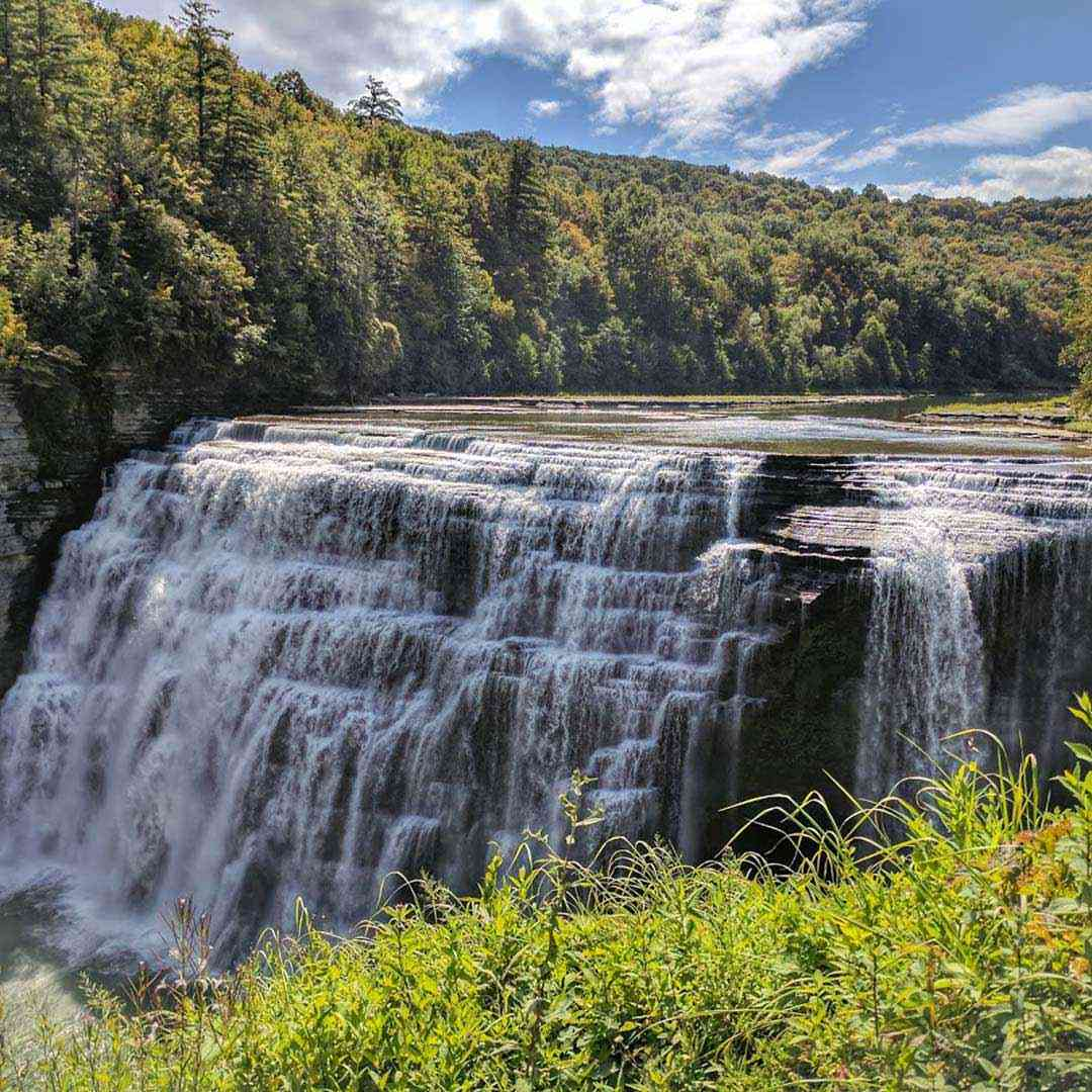 Letchworth State Park summer middle falls