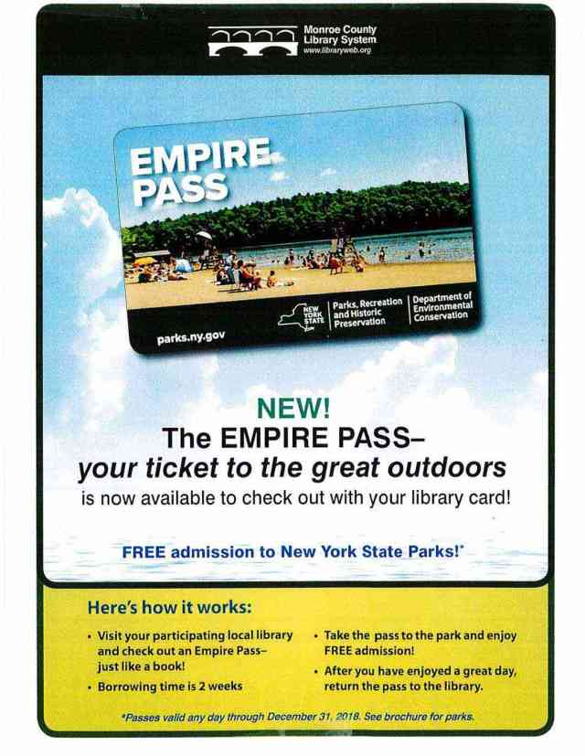 Monroe County Library Empire Pass