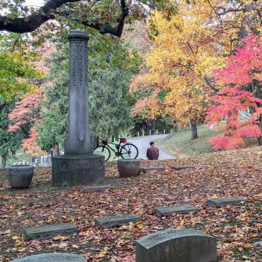 Mount Hope Cemetery Autumn bike