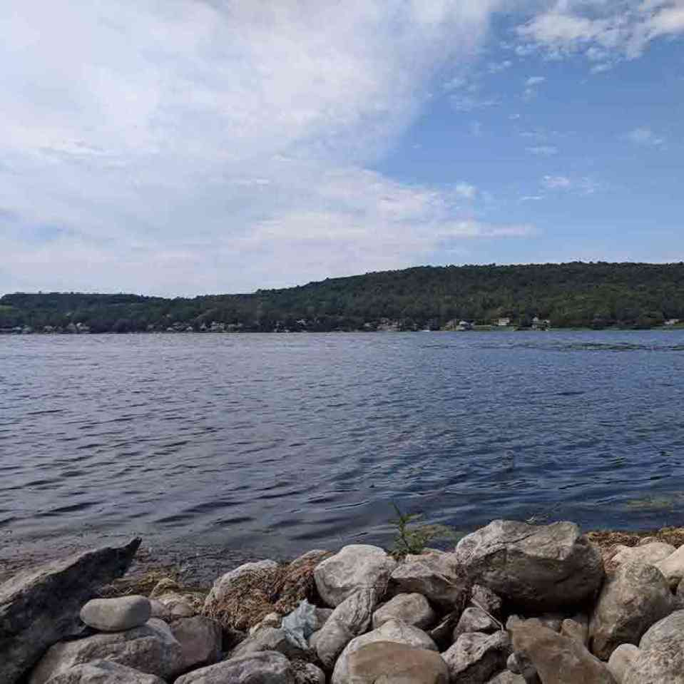Otisco Lake Park shoreline
