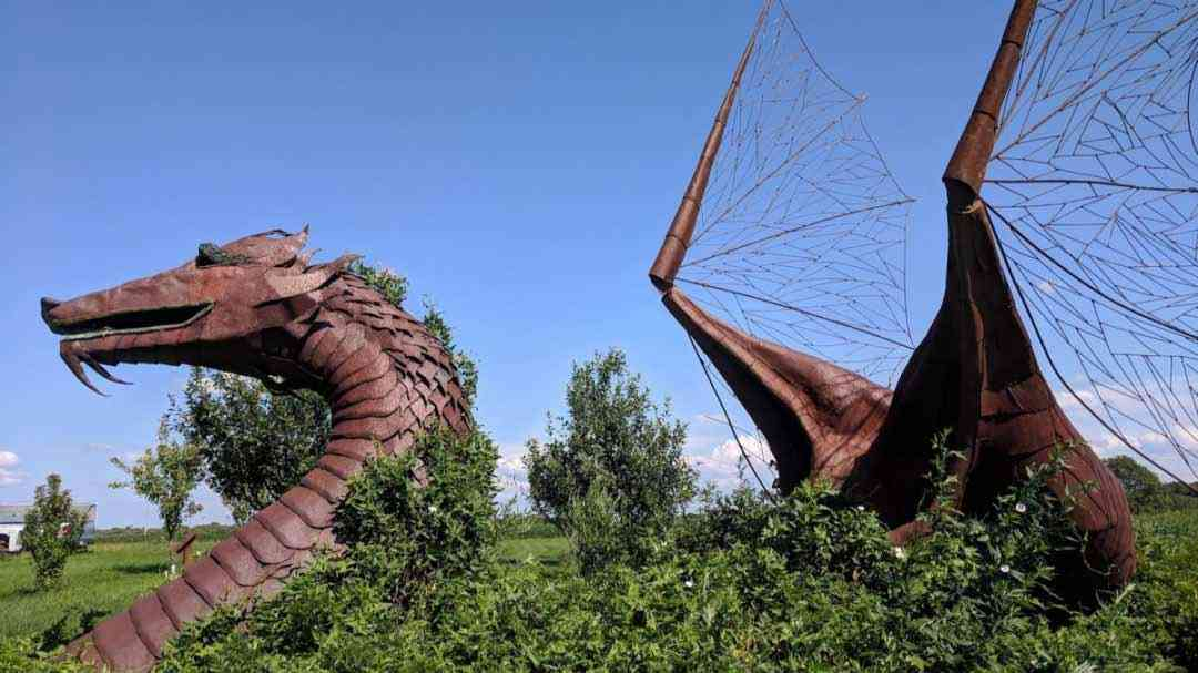 Summertime in Rochester: Roadside Attractions metal dragon cover