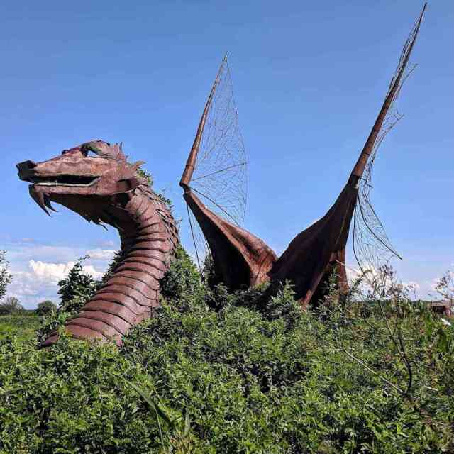 Rochester-Area Roadside Attractions - Big Metal Dragon in East Bethany NY