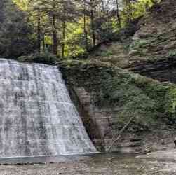 Rochester area parks: Stony Brook State Park waterfall cover
