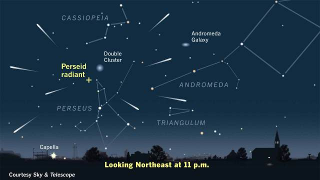 Darkest Sky Near Rochester - Perseids star map
