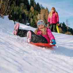winter break sledding