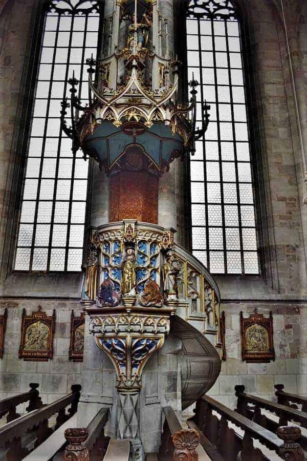 Inside St. George's Minster Dinkelsbühl