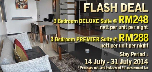 Deals: 3 Bedroom Suite @ Likas Square Apartment Hotel, The Jesselton Girl