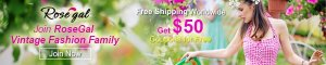 Join RoseGal Fashion Family, Get $50 Coupons for Free! All Free Shipping!