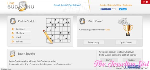 Game: Train Your Brain with Other Sudoku Online Players @ Live Sudoku
