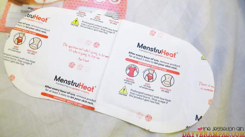 The Jesselton Girl Review: MenstruHeat Non-Medicated Menstrual Cramp Relief