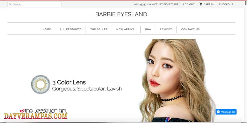 The Jesselton Girl Tested & Confirmed: 100% Authentic & High Quality Cosmetic Contact Lenses from Barbie Eyesland