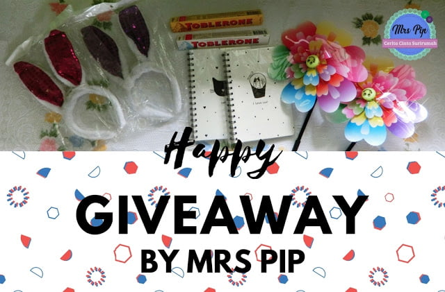 Giveaway: Happy Giveaway by Mrs Pip ( 28/8/17 – 16/9/17 ), The Jesselton Girl