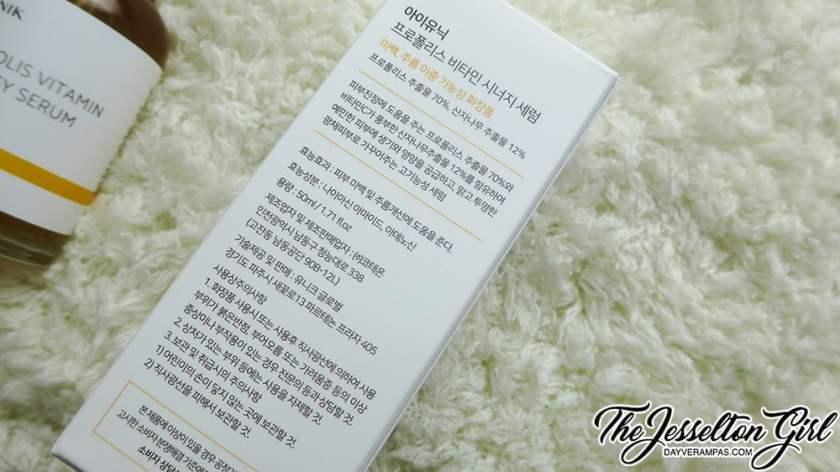 The Jesselton Girl Review: iUNIK Propolis Vitamin Synergy Serum 50ml (아이유닉 프로폴리스 비타민 시너지 세럼)