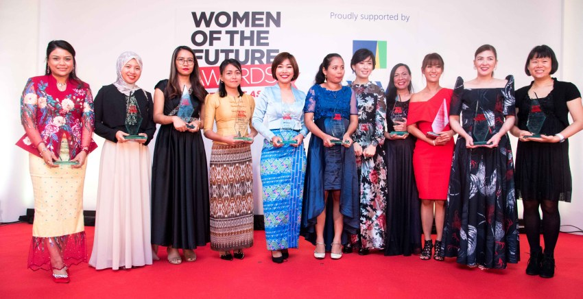 The 2019 winners of the Women of the Future Awards