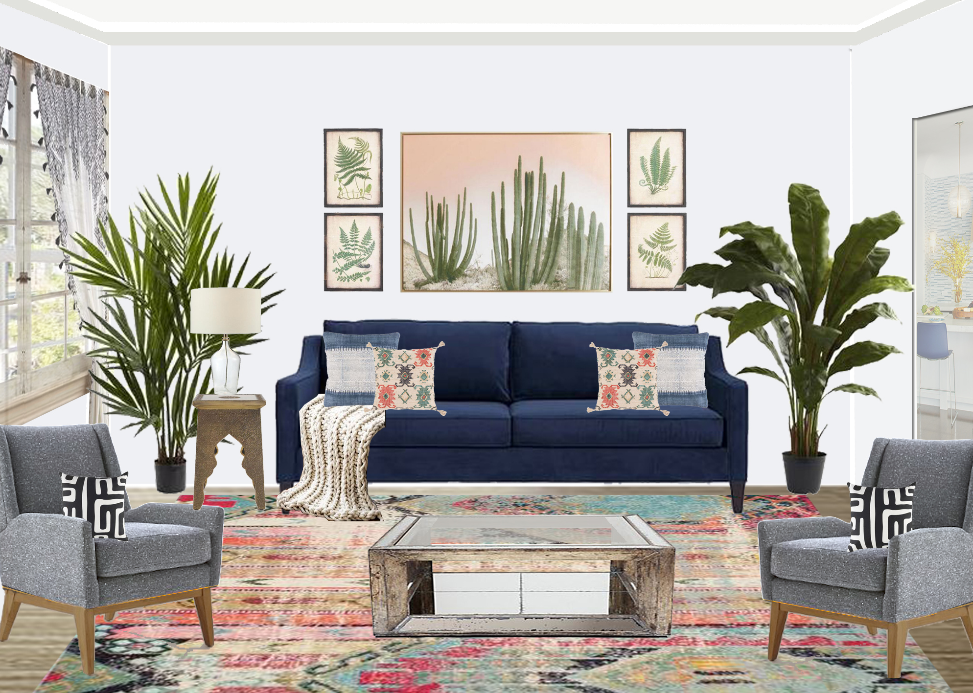 Shop The Look: Colorful Bohemian Living Room