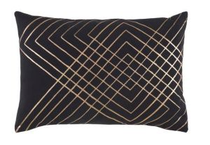 Black Lumbar Pillow