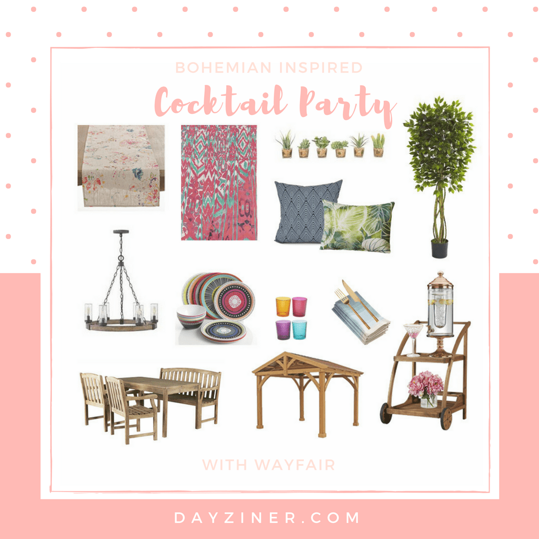 Bohemian Inspired Cocktail Party with Wayfair