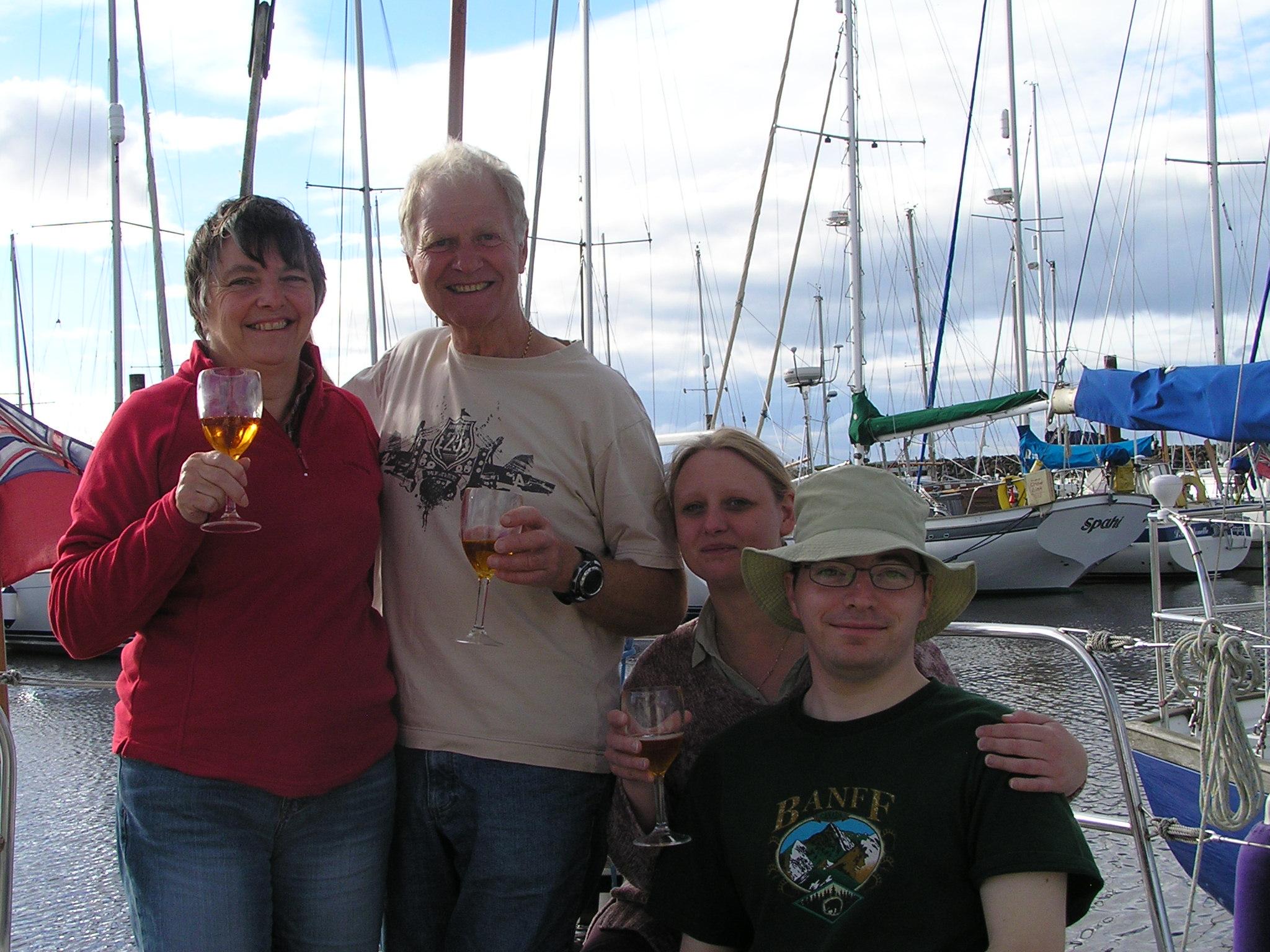 Liz, Ray, Sarah and Chris.  Northshields to Amble.