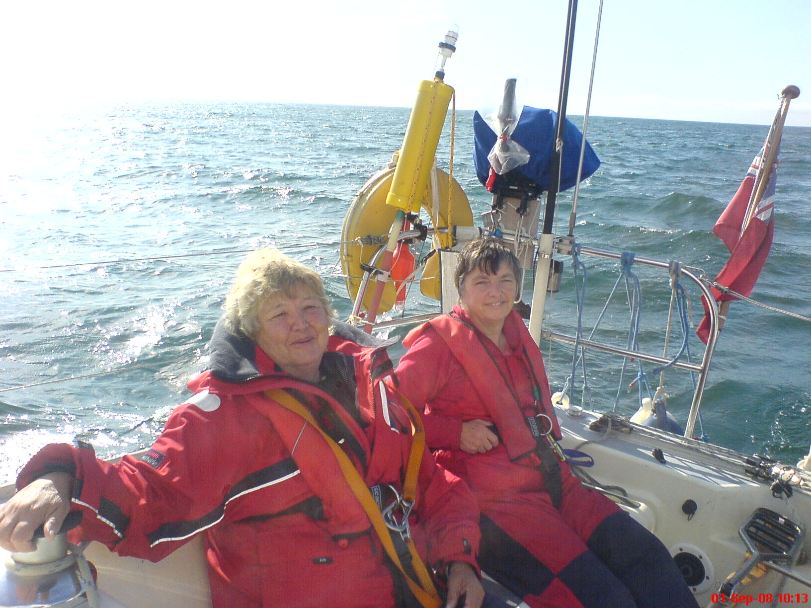 Frances and Liz, Arbroath to Inverness.