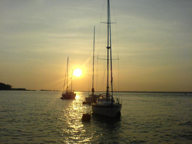 Sailing with friends in Solent 2007
