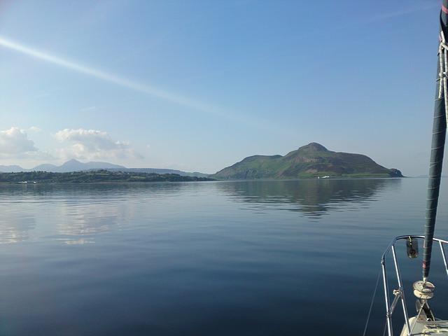 Approaching Lamlash Harbour, Arran.