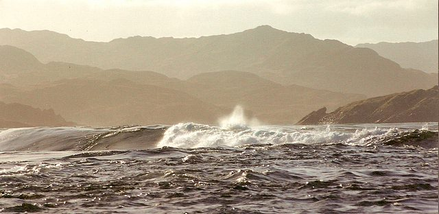 Corryvreckan Whirlpool from a postcard.