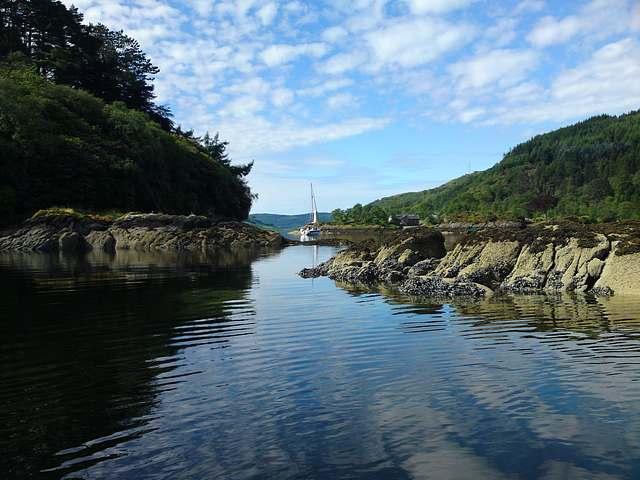 Morning at anchor Calahd Harbour