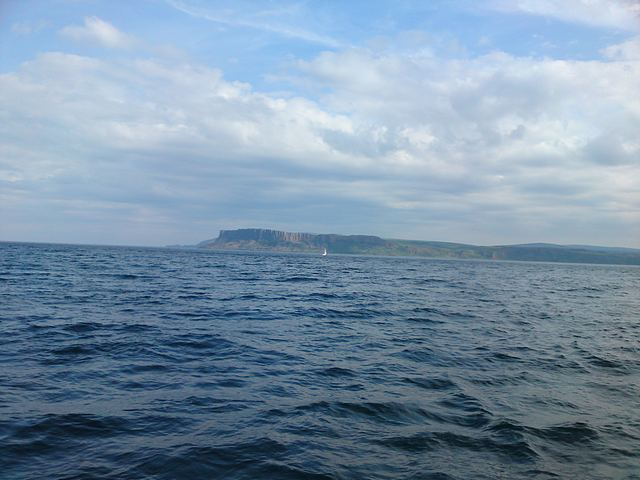 Leaving Scotlaand, Mull of Kintyre.
