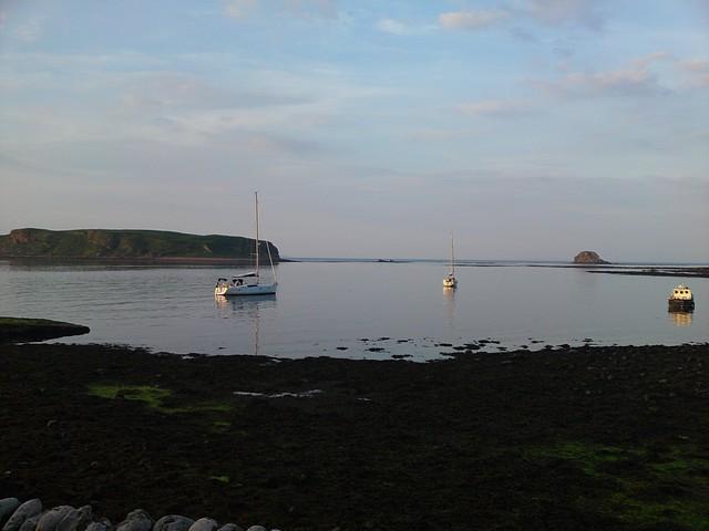 On mooring off Sanda Island, Mull of Kintyre