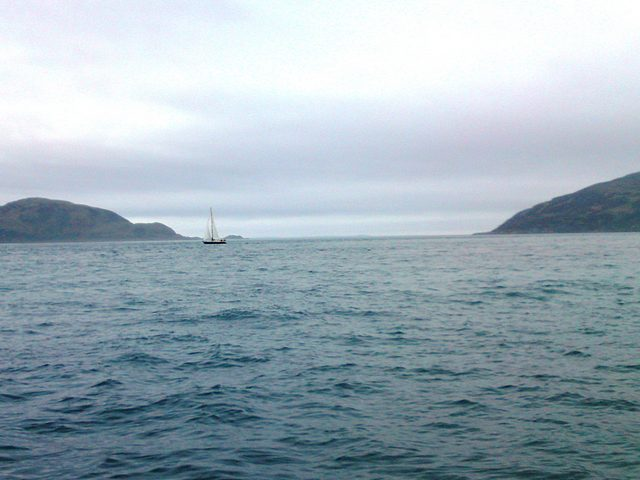 Passing Corryvreckan at Spring tide on a calm day.
