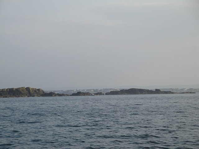 Passing the Skerries, N Ireland on passage to Portrush