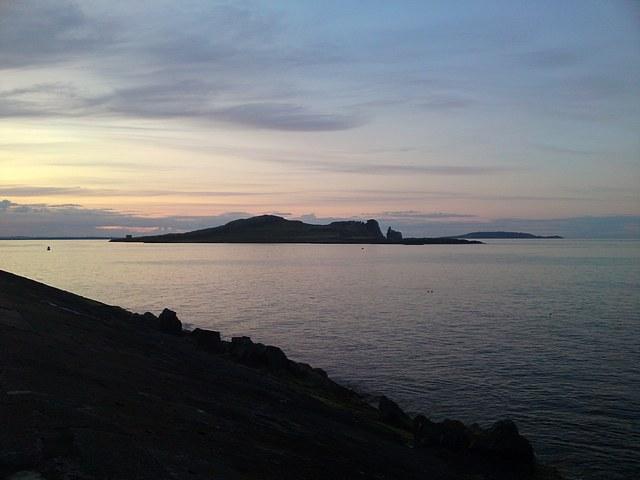 Sunset Howth, across to Ireland's Eye and Lambart islands.