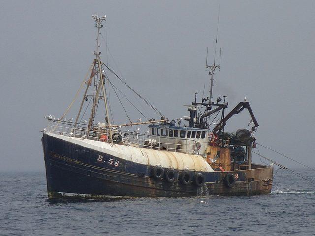 Trawling in the Irish sea.