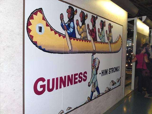 Old Guinness advert seen at Guinness Factory, Dublin