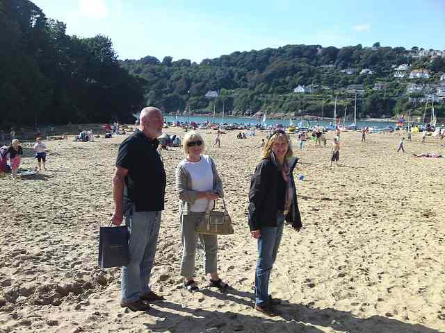 Brian, Barbara and Marion at Small's Cove, Salcombe.