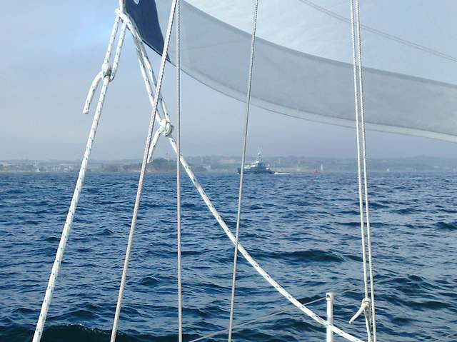 Sailing into Plymouth
