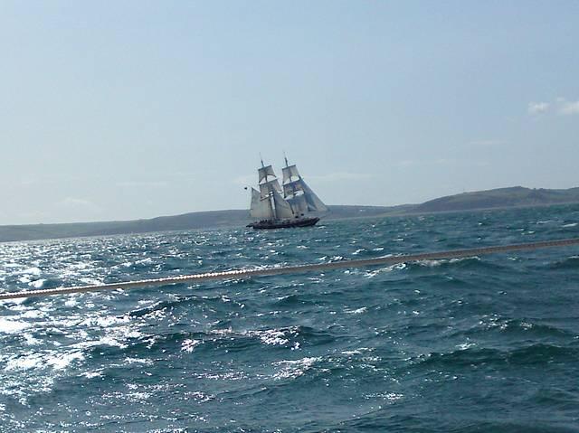 Passing Tall Ship, Start Bay