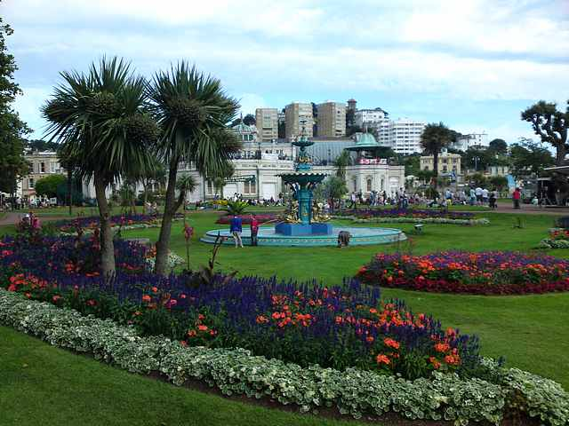 Torquay seafront gardens.