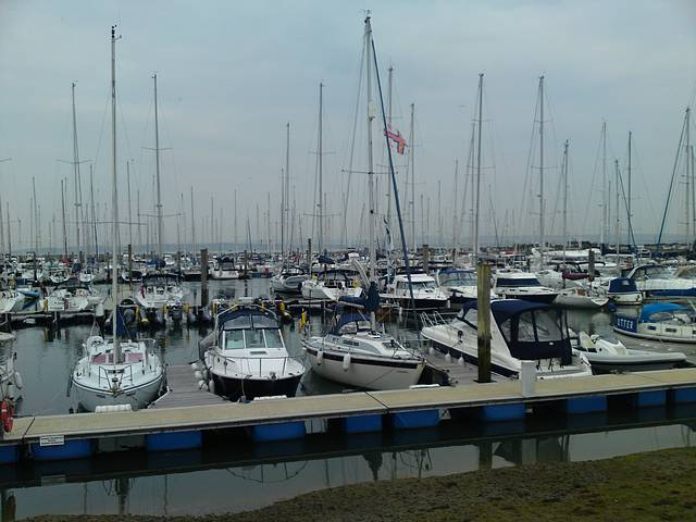 Christine Marie moored back home in Lymington.