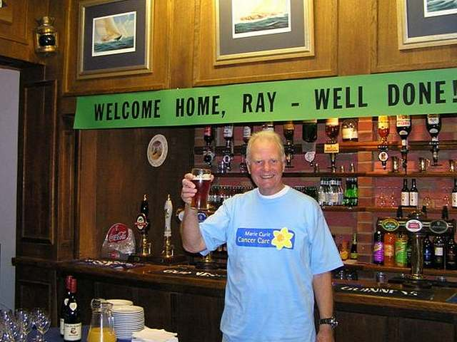 Ray at Welcome Home party.  :-)