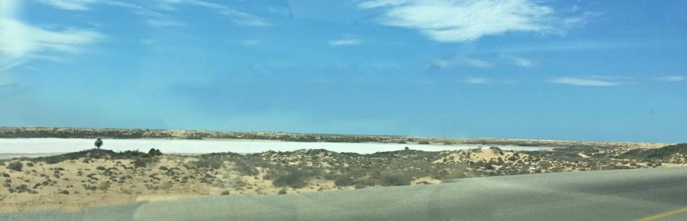 A huge salt pond between Puerto Peñasco & Tecate