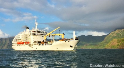 "Little did we know when we saw the Aranui in Hiva Oa that it would be our ""Santa Ship"" later in our travels."